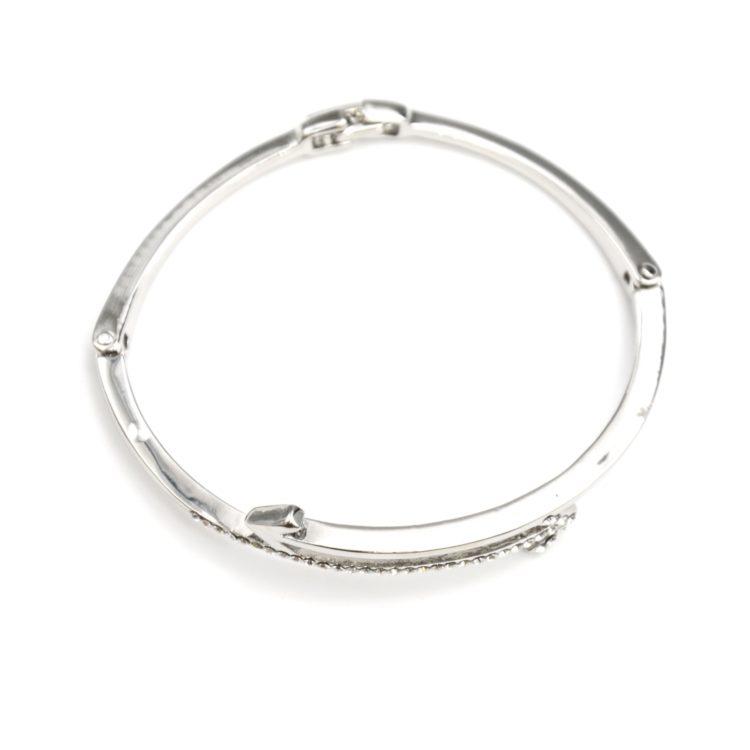 Bracelet-Jonc-avec-Fleche-Ethnique-Metal-Strass-Argente-et-Fermoir