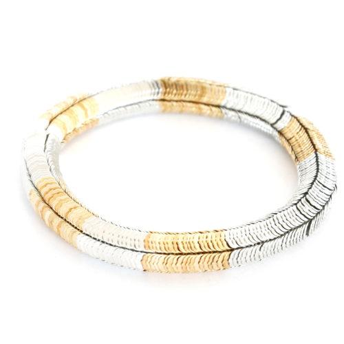 Bracelet-Elastique-Multi-Pieces-Metal-ArgenteDore