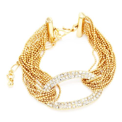 Bracelet-Multi-Chaines-Brillantes-et-Ovale-Strass-Dore