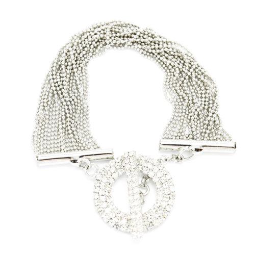 Bracelet-Multi-Chaines-Brillantes-et-Fermoir-Toggle-Strass-Argente