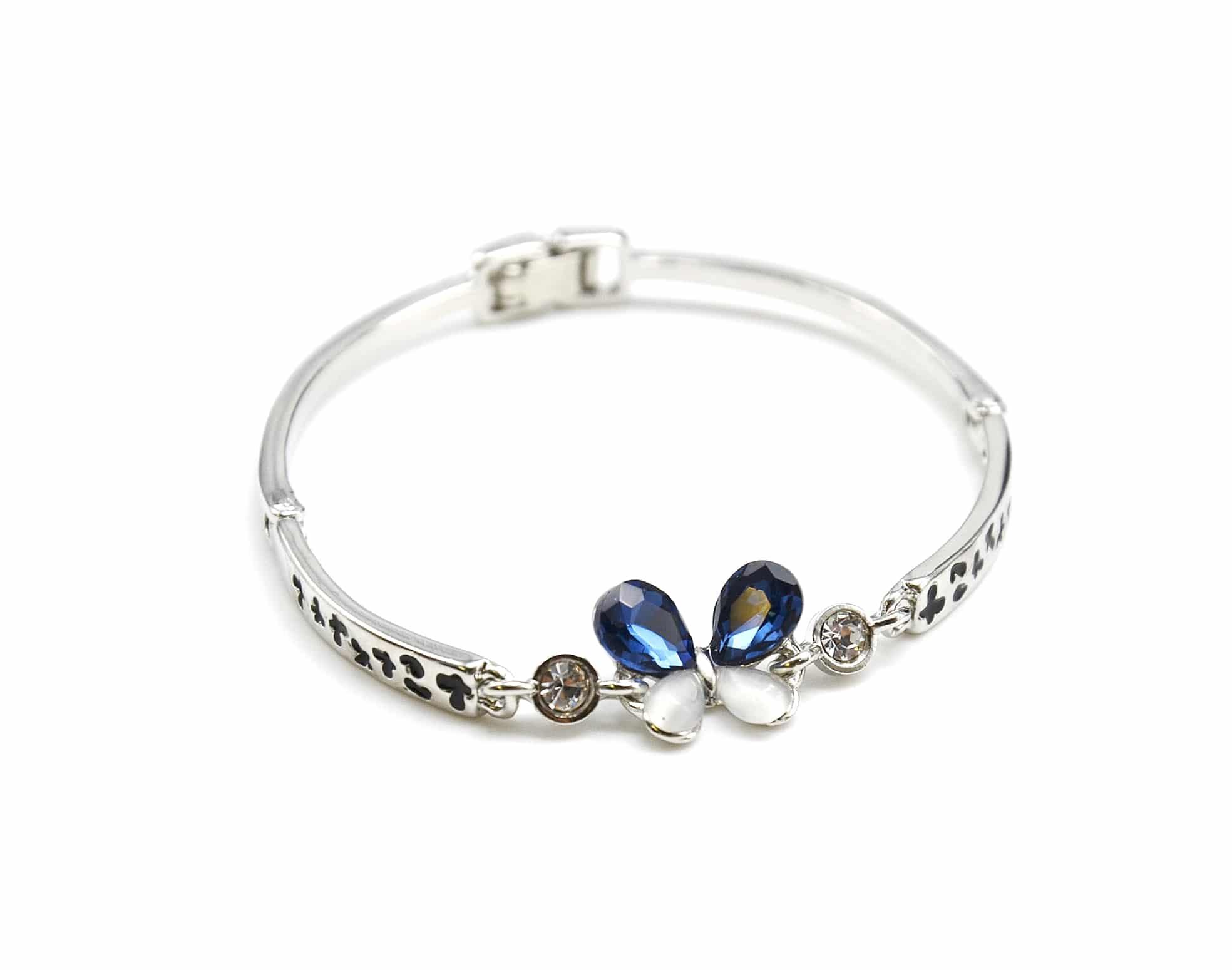 Bracelet Jonc avec Perles de Rocaille Blanc et Charm Etoile Ouverte... BC1372E