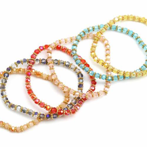 Lot-de-6-Bracelets-Pierres-Perles-Brillantes-Elastique-Style-Oriental-Multicolore