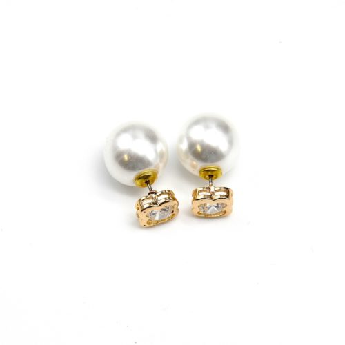 Boucles-dOreilles-Double-Perles-Trefle-a-4-Feuilles-Metal-Dore-et-Perle-Blanche