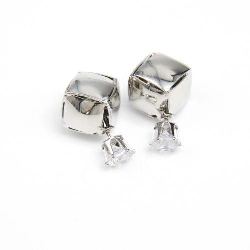 Boucles-dOreilles-Double-Perles-Pierre-Strass-et-Carre-Metallise-Argente