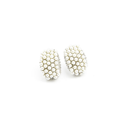 Boucles-dOreilles-Rectangle-Bombe-Orne-de-Mini-Perles-Ecru