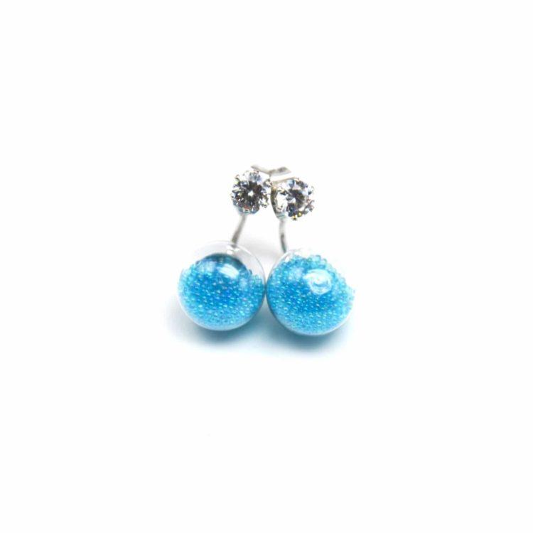 Boucles-dOreilles-Double-Pierre-et-Boule-Verre-Billes-Bleu