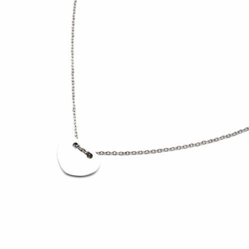 Collier-Fine-Chaine-Pendentif-Coeur-Acier-Argente