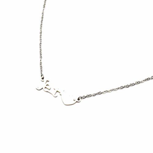 Collier-Fine-Chaine-Pendentif-Message-Je-taime-Acier-Argente