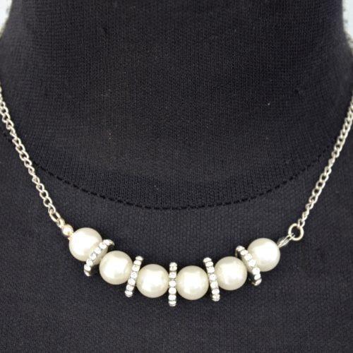 Collier-Pendentif-Perles-Nacre-Blanc-et-Anneaux-Strass-Argente