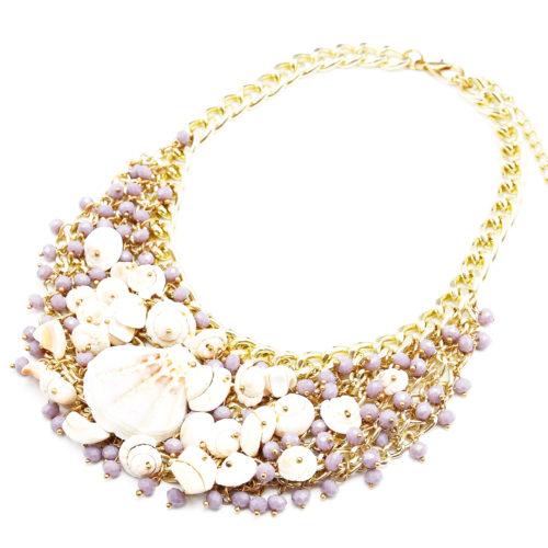 Collier-Plastron-Multi-Perles-Facettes-Violettes-et-Coquillages