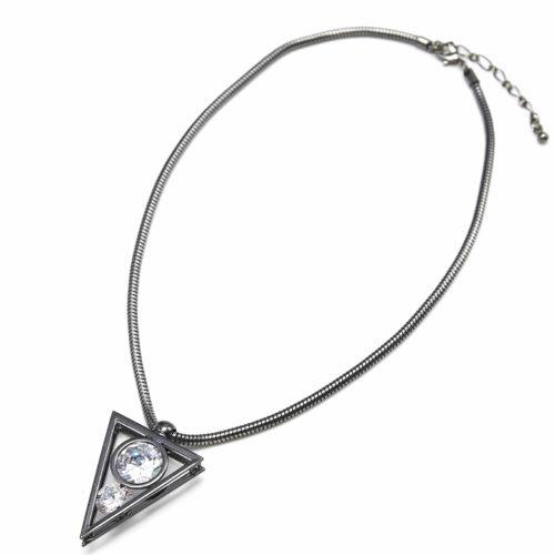 Collier-Pendentif-Triangle-Inverse-Metal-Pierres-Gris
