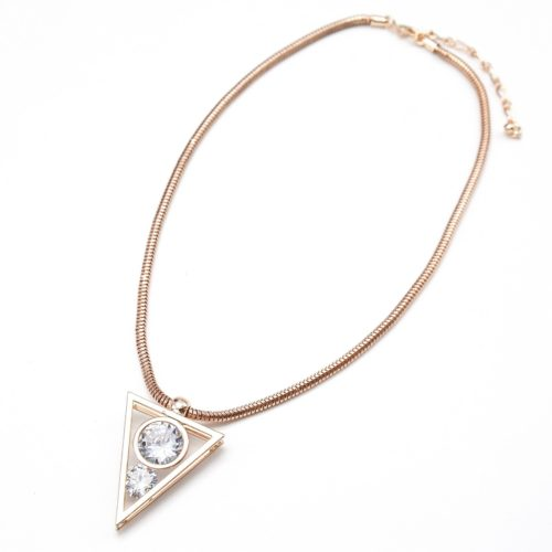 Collier-Pendentif-Triangle-Inverse-Metal-Or-Rose-avec-Pierres-Multi-Facettes
