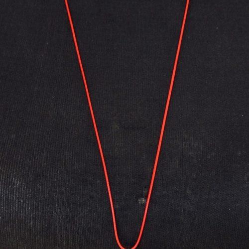 Sautoir-Collier-Fil-Cordon-Pendentif-Labyrinthe-Rouge