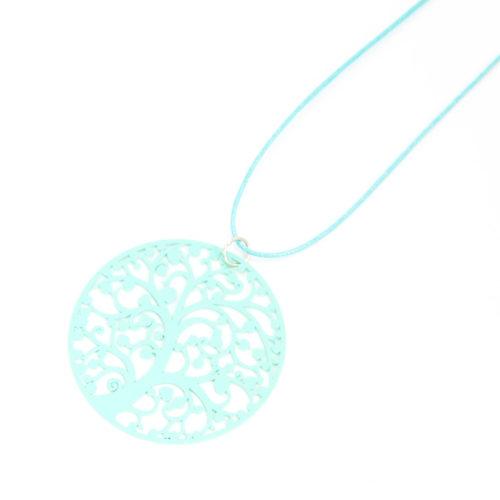Sautoir-Collier-Fil-Cordon-Pendentif-Motif-Arbre-de-Vie-Turquoise