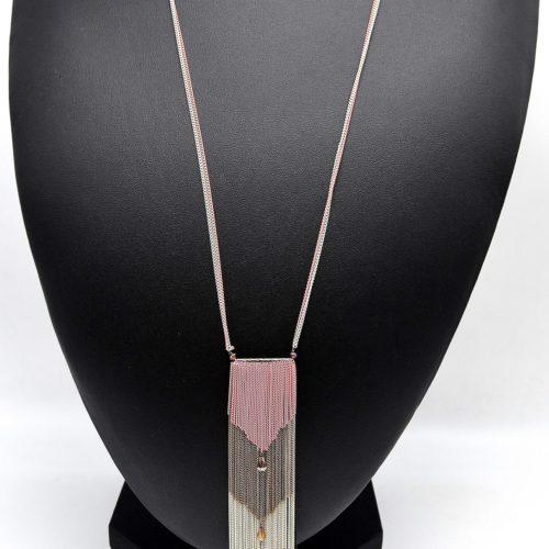 Sautoir-Collier-Franges-Ethnique-Multi-Rangs-avec-Perles-Rose