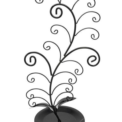 Presentoir-Bijoux-Plante-Torsadee-pour-Colliers-et-Bracelets-Noir