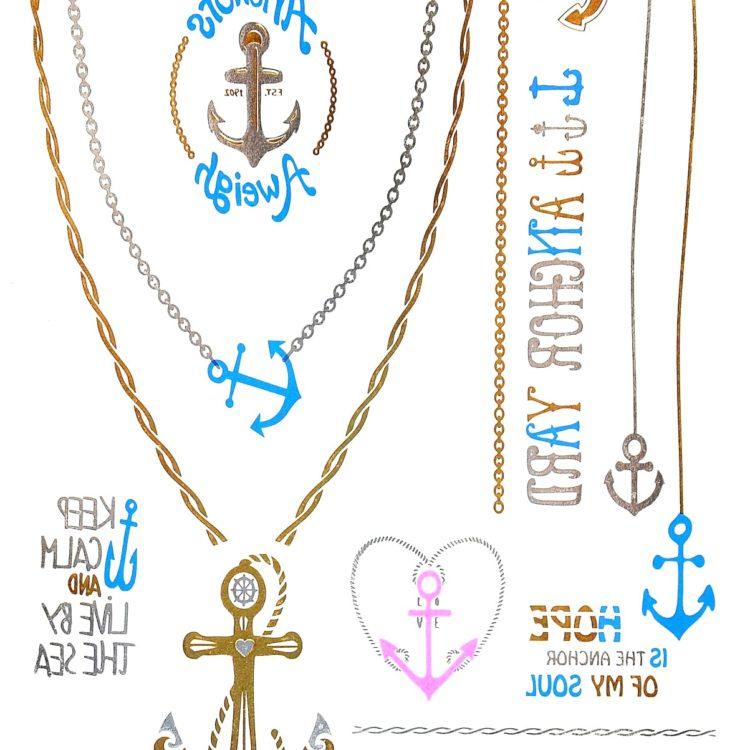 Planche-Tattoo-Tatouage-Ephemere-Body-Art-Marin-ArgentOrBleu