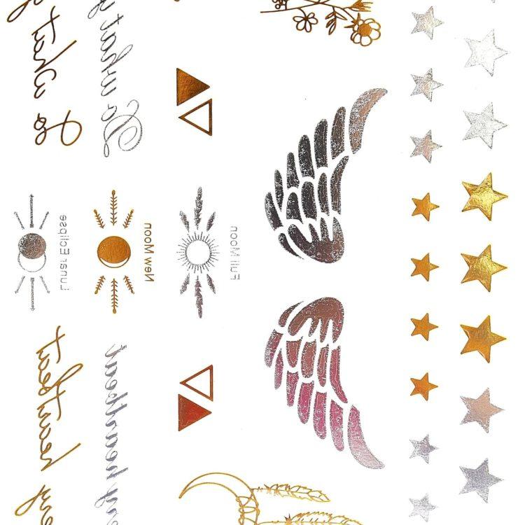 Planche-Tattoo-Tatouage-Ephemere-Body-Art-Symboles-et-Messages-ArgentOr