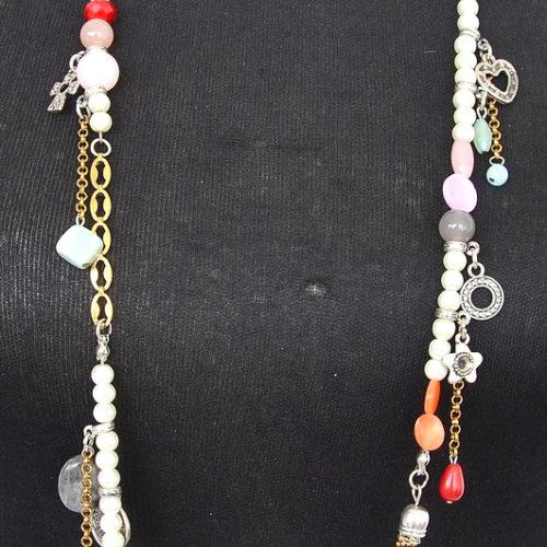 Sautoir-Collier-Pendentif-Charms-Metal-avec-Perles-Nacre-et-Multicolore