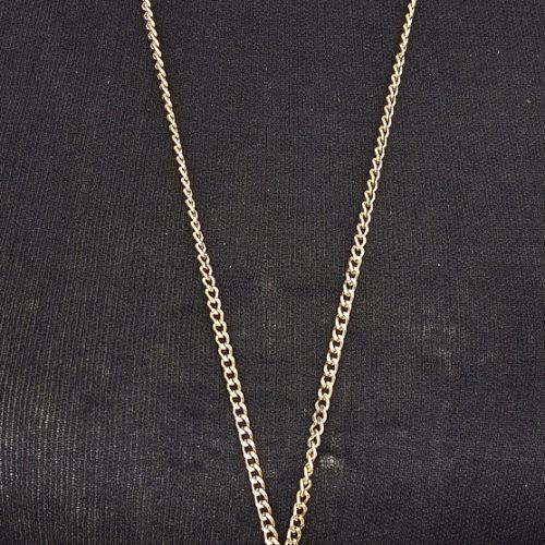 Sautoir-Collier-Metal-Dore-Pendentif-Grappe-de-Boules-a-Facettes-et-Perles-Grises
