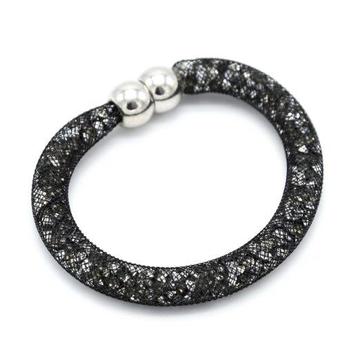 Bracelet-Aimante-Stardust-Tube-Resille-avec-Cristaux-GrisArgente