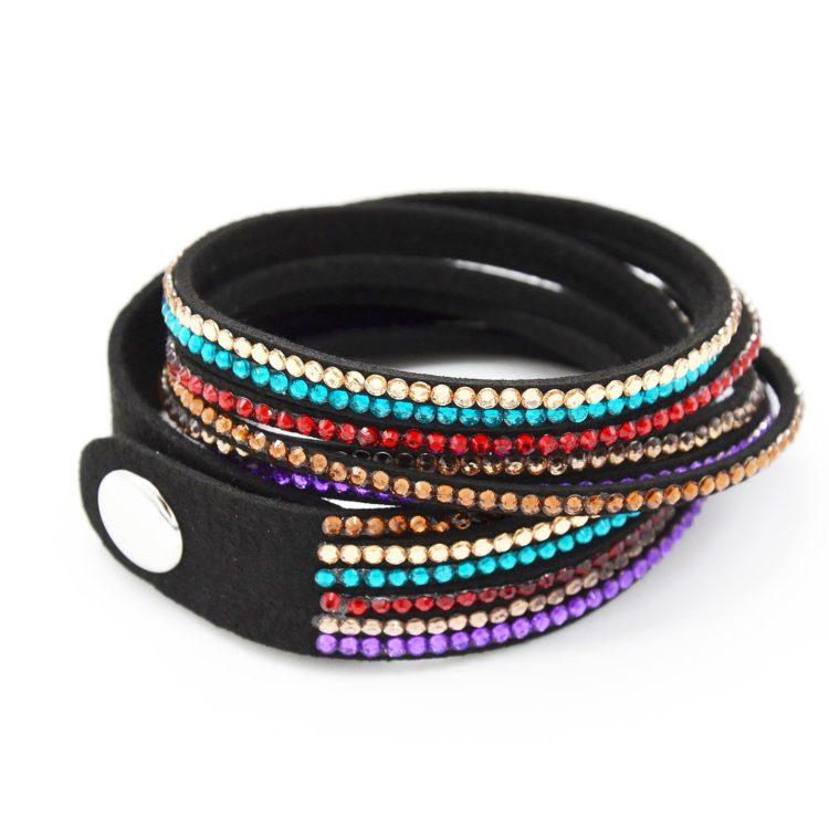 Bracelet-Slake-Double-Tour-6-Rangs-Strass-Multicolore