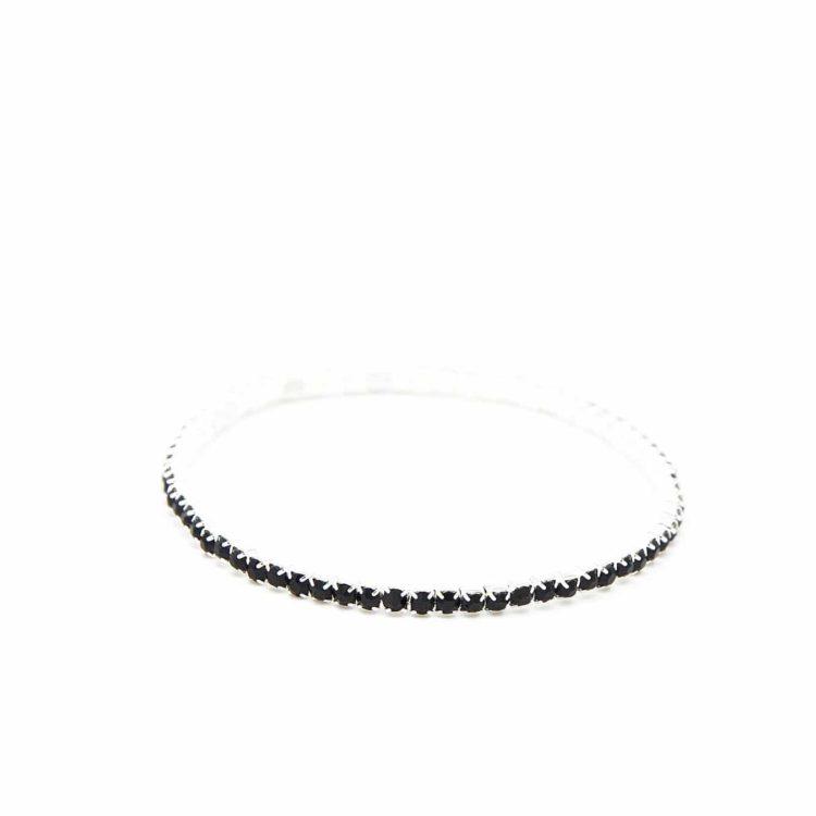 Lot-de-2-Bracelets-Elastique-1-Rangee-de-Strass-Noir-Chic