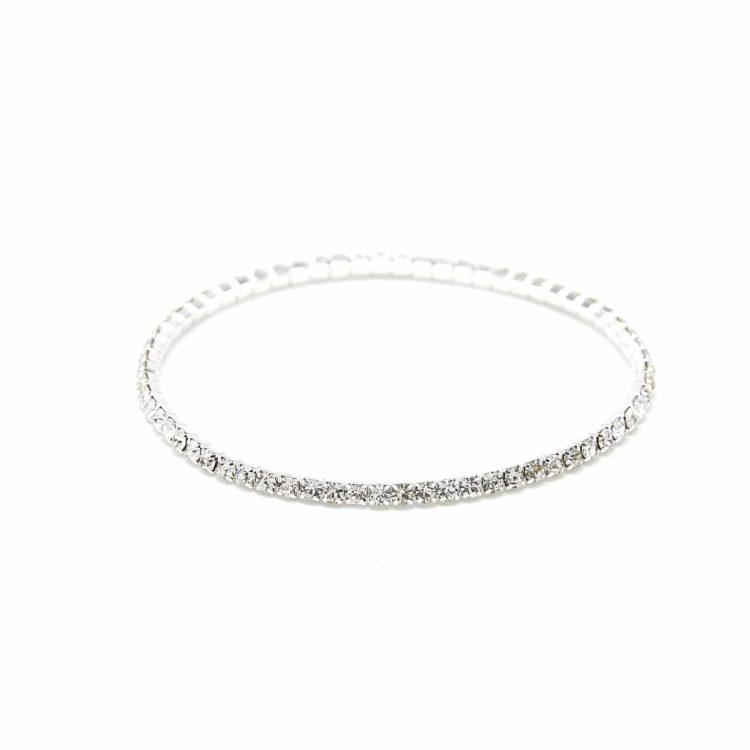 Lot-de-2-Bracelets-Elastique-1-Rangee-de-Strass-Argente-Chic