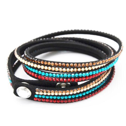 Bracelet-Slake-Double-Tour-4-Rangs-Strass-Multicolore