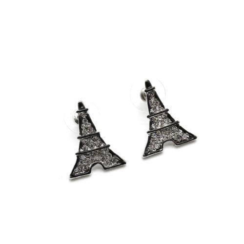 Boucles-dOreilles-Tour-Eiffel-Strass-Contour-Peint-Argente-Noir