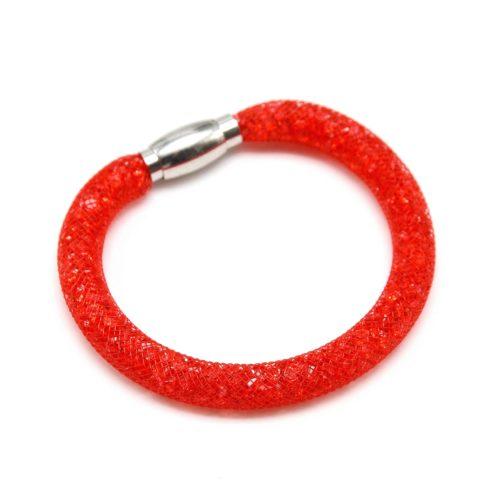 Bracelet-Aimante-Stardust-Tube-Resille-avec-Cristaux-Rouge-Vif