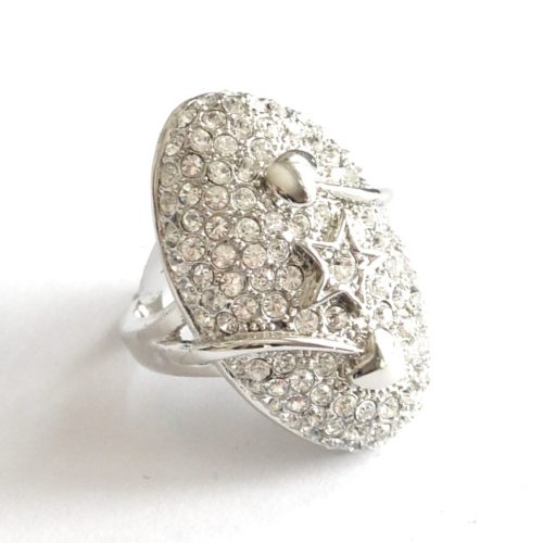Bague-Ovale-Etoile-Coeurs-Strass-Chic-Argente
