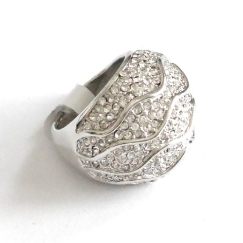 Bague-Rayures-Vagues-Strass-Chic-Argente