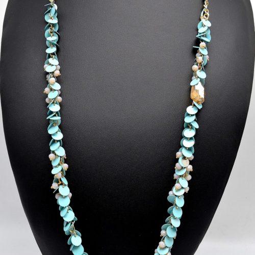 Sautoir-Collier-Guirlande-de-Pieces-Rondes-et-Perles-Bleues
