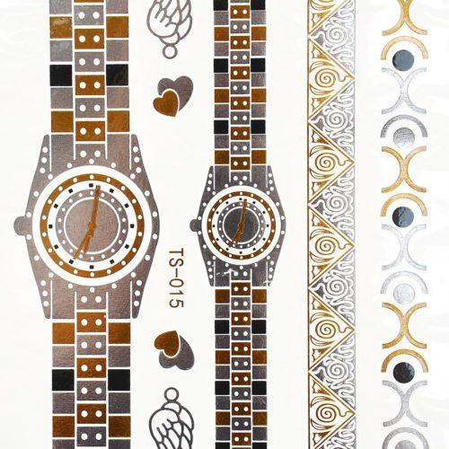 Planche-Tattoo-Tatouage-Ephemere-Body-Art-Montres-et-Bracelets-ArgentOr