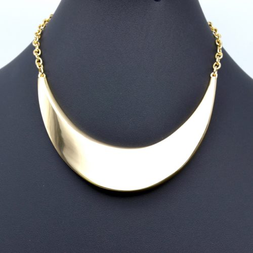 Collier-Chaine-Metal-et-Demi-Torque-Plate-Dore