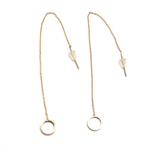 Boucles-dOreilles-Traversantes-Fine-Chaine-et-Cercle-Ouvert-Metal-Or-Rose