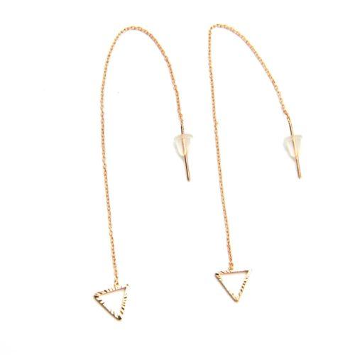 Boucles-dOreilles-Traversantes-Fine-Chaine-et-Triangle-Ouvert-Metal-Or-Rose