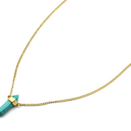 Sautoir-Collier-Chiane-Metal-Dore-Pendentif-Pierre-Effet-Marbre-Turquoise