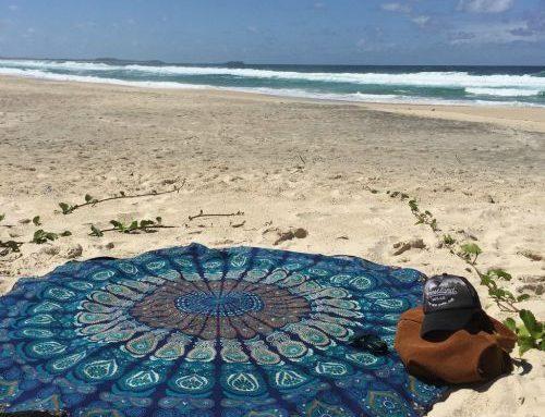 Zoom sur la serviette de plage