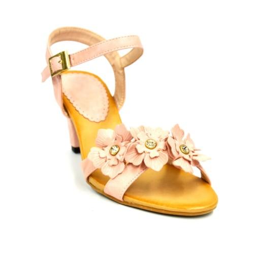 Sandales-Nu-Pieds-Talon-avec-Brides-Croisees-Ornees-de-3-Fleurs-Simili-Cuir