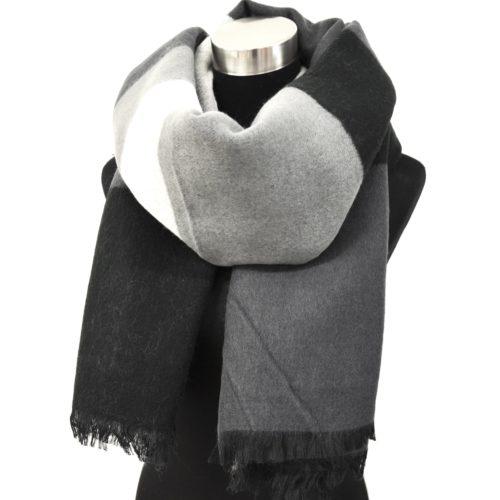 psv28 echarpe longue pashmina automne hiver motif carreaux style tartan avec franges mode. Black Bedroom Furniture Sets. Home Design Ideas