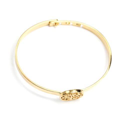 Bracelet-Jonc-avec-Cercle-Arbre-de-Vie-Ajoure-Metal-Dore