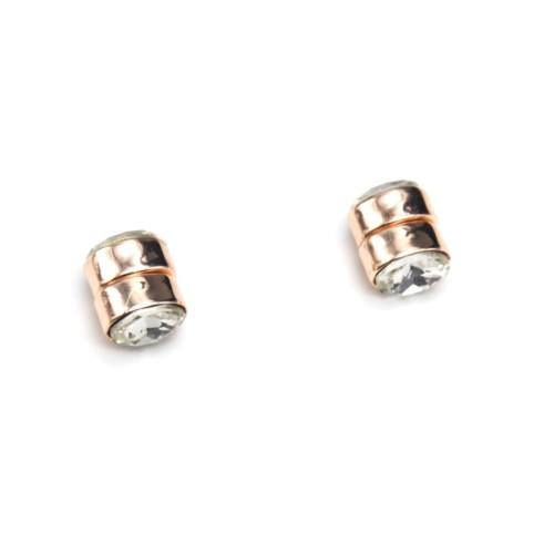 Boucles-dOreilles-Aimant-avec-Pierre-Ovale-Transparente-et-Metal-Or-Rose