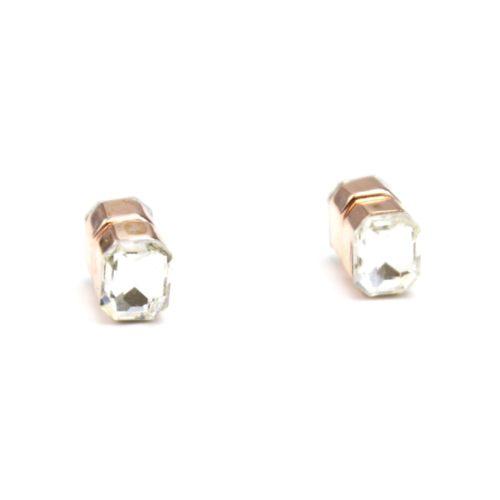 Boucles-dOreilles-Aimant-avec-Pierre-Rectangle-Transparent-et-Metal-Or-Rose