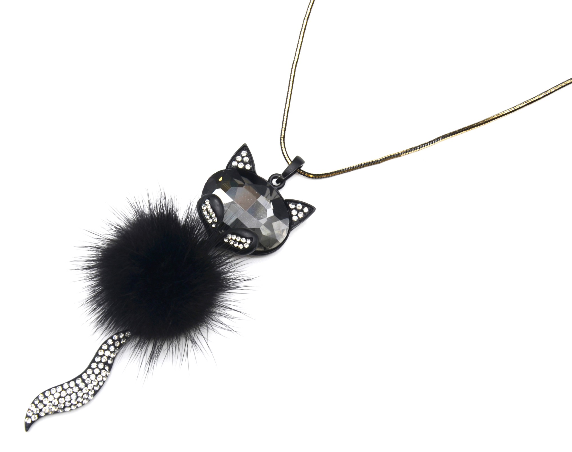 collier fantaisie tete de chat
