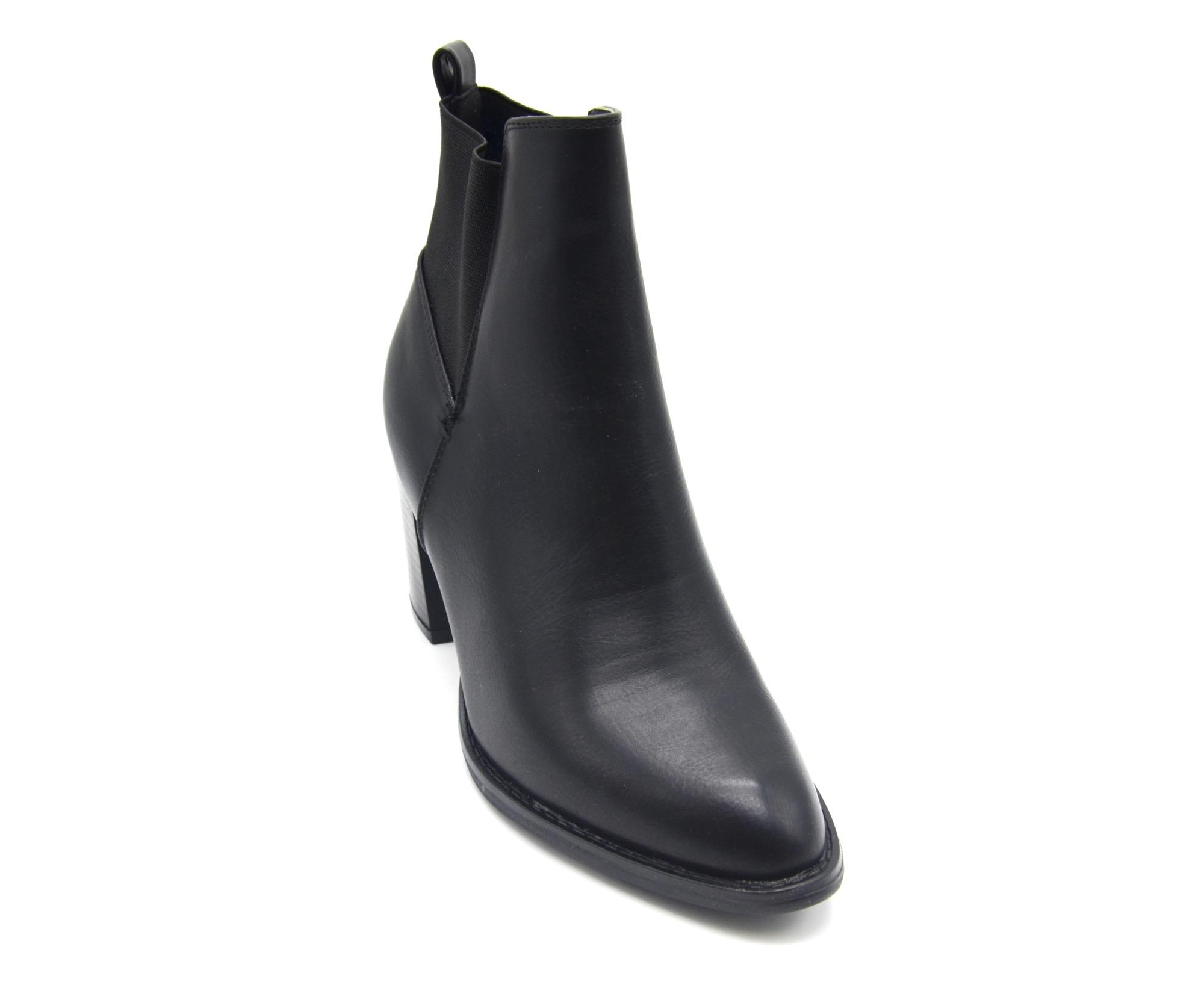 shf79 bottines boots talon carr simili cuir uni avec. Black Bedroom Furniture Sets. Home Design Ideas