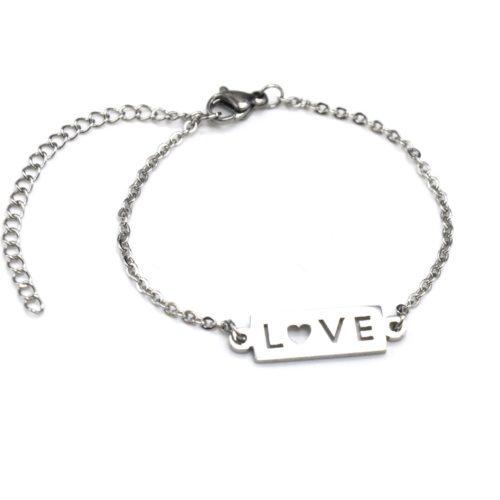 Bracelet-Fine-Chaine-avec-Charm-Rectangle-Love-Acier-Argente