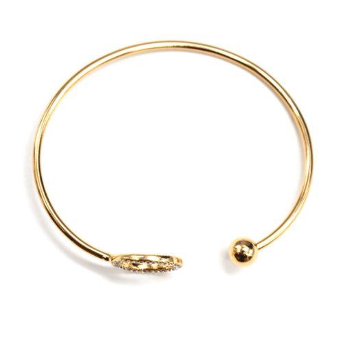 Bracelet-Jonc-Ouvert-avec-Boule-Metal-et-Cercle-Contour-Strass-Dore