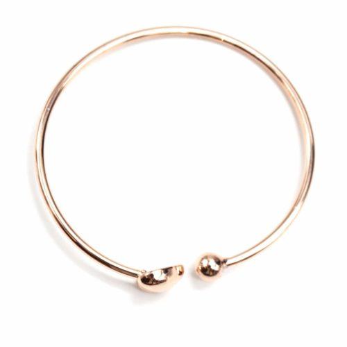 Bracelet-Jonc-Ouvert-avec-Coeur-et-Boule-Metal-Or-Rose